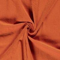 Luxury Jumbo Corduroy Velvet Fabric Material - ORANGE